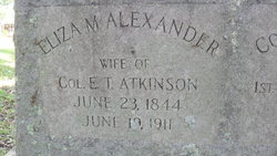 Eliza M. <i>Alexander</i> Atkinson
