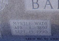 Myrtle <i>Wade</i> Barton