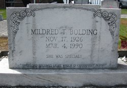 Mildred T Bolding