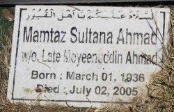 Mamtaz Sultana Ahmad