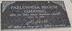 Fazlunnisa Begum