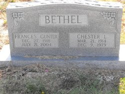 Frances <i>Gunter</i> Bethel