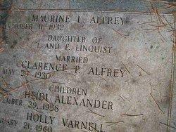 Maurine <i>Lindquist</i> Alfrey