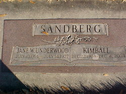 Jean Wilkie <i>Underwood</i> Sandberg