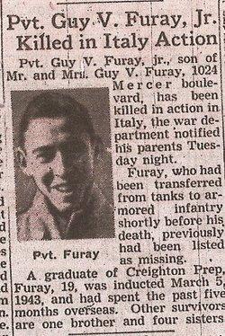Pvt Guy Vincent Furay, Jr