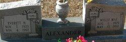 Willie Mae <i>Williamson</i> Alexander