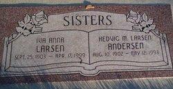 Hedvig M <i>Larsen</i> Andersen