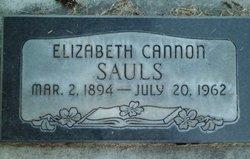 Elizabeth <i>Cannon</i> Sauls