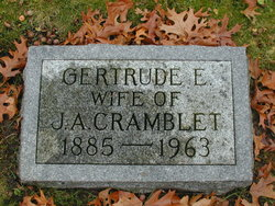 Gertrude <i>Huston</i> Cramblet