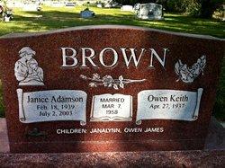 Janice <i>Adamson</i> Brown