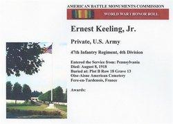 Pvt Ernest Keeling, Jr