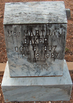 Martha Jones <i>Williams</i> Baker