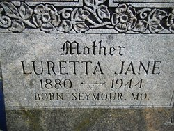 Luretta(Louretta) Jane <i>Berry</i> Armagost
