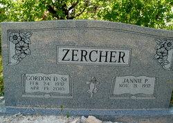Rev Gordon Don Zercher, Sr