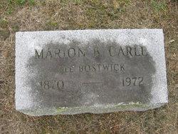 Marion <i>Bostwick</i> Carle