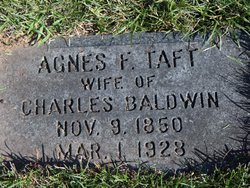 Agnes F <i>Taft</i> Baldwin