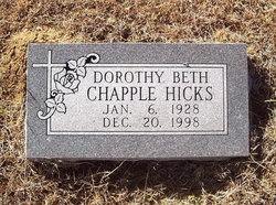Dorothy Beth <i>Chapple</i> Hicks