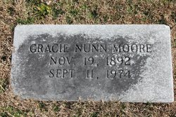 Gracie Nancy <i>Nunn</i> Moore