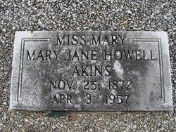 Mary Jane <i>Howell</i> Akins
