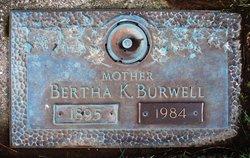Bertha M. <i>Keller</i> Burwell