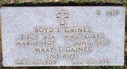 Sgt Boyd L Gaines