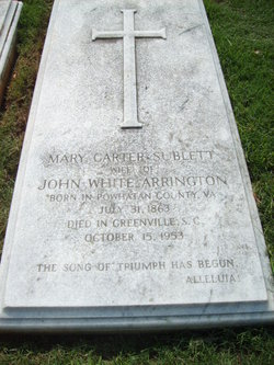 Mary Carter <i>Sublett</i> Arrington