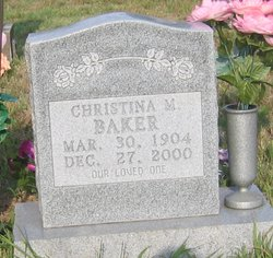 Christina Mary <i>Bogle</i> Baker
