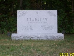 Janet <i>Calvin</i> Bradshaw