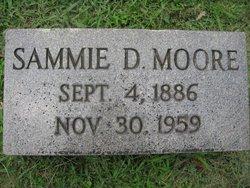 Mary Samuel Sammie <i>Davis</i> Moore