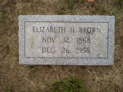Elizabeth H Brown