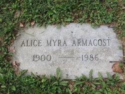 Alice Myra <i>Bear</i> Armacost