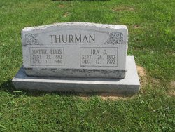 Mattie <i>Ellis</i> Thurman