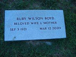 Ruby <i>Wilson</i> Boyd
