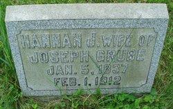 Hannah Jane Aunt Jane <i>Cochran</i> Grube