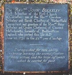 Rev John Bulkeley
