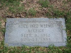 Alice Inez <i>Wernli</i> McVeigh
