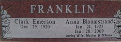 Anna Bloomstrand Franklin