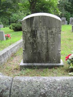 Gertrude D Hammond