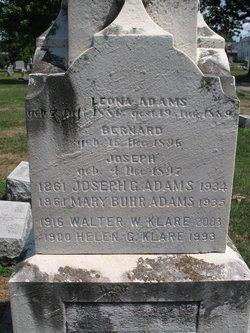 Mary <i>Buhr</i> Adams