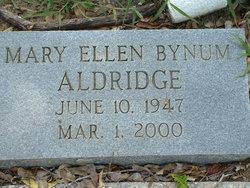 Mary Ellen <i>Bynum</i> Aldridge
