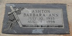 Barbara Ann <i>Hamilton</i> Ashton