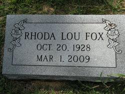 Rhoda Lou <i>Norvell</i> Fox