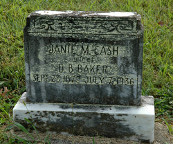 Janie M. <i>Cash</i> Baker