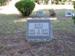Alice <i>Doughtery</i> Hiles