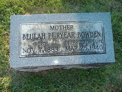 Beulah <i>Puryear</i> Bowden