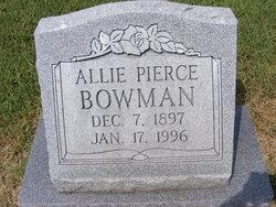 Allie <i>Pierce</i> Bowman