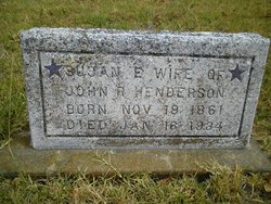Susan E. Susie <i>Mitchell</i> Henderson