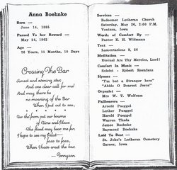 Anna L. <i>Pueggel</i> Boehnke