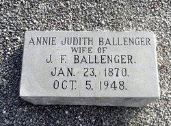 Annie Judith Ballenger