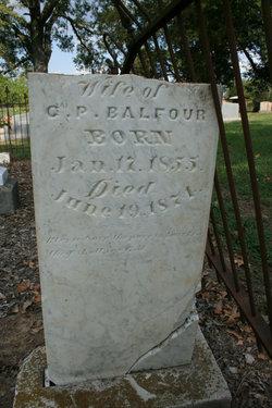 Fannie Edwards Balfour